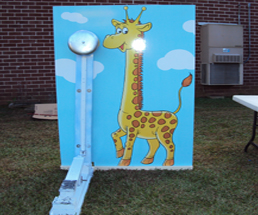 Giraffe Kiddie Striker Game Rental