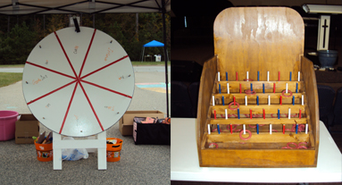 Giant Prize Wheel and Ring Toss Game Rental